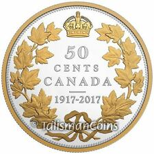 Canada 1917 2017 Half Dollar 50 Cents 2 Oz Silver Proof Masters Club Exclusive