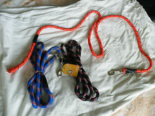 EXTRA LONG DOG LEAD 6 FOOT EXTRA LONG ROPE STYLE BLACK BLUE OR RED