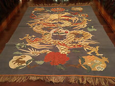 A RARE AND IMPORTANT CHINESE QING DYNASTY GOLD DRAGON KESI PANEL.