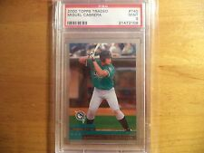 MIGUEL CABRERA MIGGY DETROIT TIGERS 2000 TOPPS TRADED PSA 9 MINT RC ROOKIE #T40