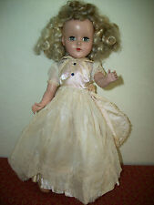 "Vintage 1950's R&B Arranbee Nancy Lee Doll Nanette 14"" Dress Slip Shoes"