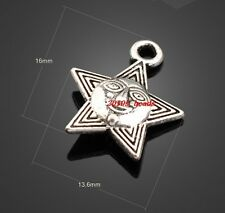 Wholesale 20pcs Alloy Pentagram Smiling face the sun charms pendant 16x13mm