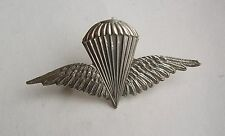 Iraqi Army, Parachute Regiment Cap Badge. White Metal.