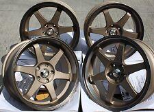 """18"""" BRONZE GTR ALLOY WHEELS NISSAN SKYLINE GTST GTR GTT 200 300ZX 350Z S14 S15"""