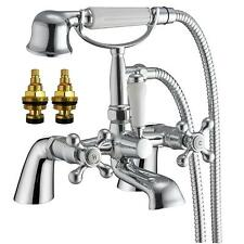 Victorian Antique Old Style Chrome Bathroom Bath Shower Mixer Tap (Viscount 4)