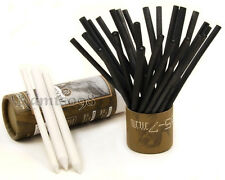 Box of 25 willow charcoal Sticks Pencils Drawing Sketch Eraser Paper Stumps Set