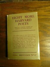 Eight More Harvard Poets  Bretano's publisher 1923 1st Ed. signed