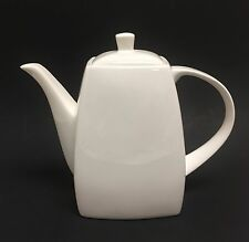 NEW MERITAGE SOLID WHITE CERAMIC,TEA,COFFEE POT,TEAPOT 7 CUPS ,56 OZ.
