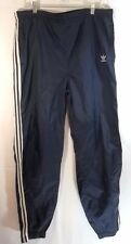 Vintage Adidas Track Pants Trefoil 3 Stripe Medium Blue Unlined