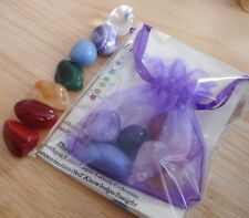 CHAKRA SET - 7 HEALING CRYSTALS 15mm - HEALING, REIKI, MEDITATION CRYSTALS