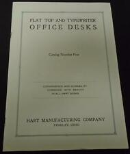 Flat Top And Typewriter Office Desks Catalog #5 Hart Company Paperback