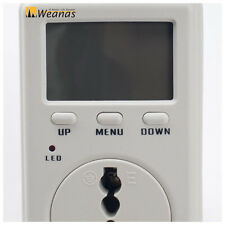Consumption Meter Electricity Usage Monitor Power Energy Watt Volt Analyzer Plug