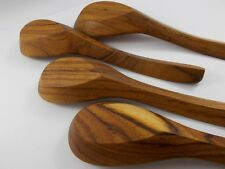 """7"""" Lot 4  WOODEN SPOON CHINESE SOUP RICE SPOONS KITCHEN DINING SPOON NOODLE"""