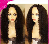 Jerry curly wave weave  lace front wig / full lace wig  indian remy human hair