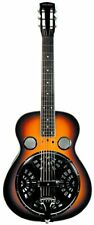 Trinity River Square Neck Mudslide Resonator Guitar RSN1AS with hard Tolex case