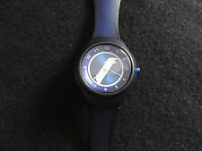 New Men's Sweda Water Resistant Quartz Watch - Black and Blue Band