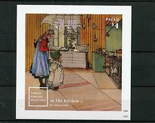 Palau 2014 MNH World Famous Paintings II 1v Imperf S/S Carl Larsson Art Kitchen