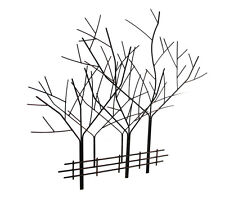 Aged Copper Finished Wrought Iron Winter Tree Wall Sculpture