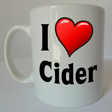I Love Heart Cider Mug Gift Present Birthday Christmas Cyder Devon Drink Apple