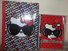 """New Set HELLO KITTY Stationery Student Notebook 10"""" x 8"""" + Journal  Loungefly"""