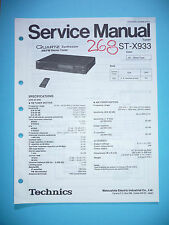 Service-Manual per Technics st-x933, ORIGINALE