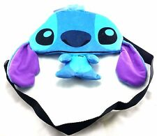 Disney Lilo and Stitch Boys & Girls Blue Small Stitch Shaped Shoulder Bag