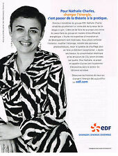 PUBLICITE ADVERTISING 104  2009  EDF  énérgie Mme NATHALIE CHARLES
