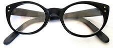 Vintage Cat Eye Glass Frame Ladies Stars Black Mod Hippie Librarian 60's