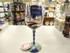 Lolita Von Maur's Recipe for Legendary Service Wine Glass Custom Rare Retired