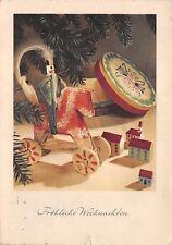 AK Fröhliche Weihnachten Holz Pferd Postkarte