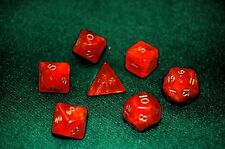 7pc Red Ancient polyhedral dice set D&D dnd D20  RPG Crystal Caste