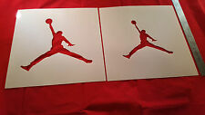 YOUTH ADULT T SHIRT AIRBRUSH STENCILS JUMPING MAN SET OF 2 FAST FREE SHIP!
