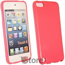 Cover Custodia Per iPod 5 Fucsia Rosa Silicone Gel + Pellicola Salva Display