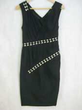 Thakoon Size 2 8 Black cocktail or party cotton & Silk designer dress