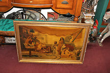 Antique S. Fiordimalva Signed Oil Painting-Slave Women Sold To Egyptian King