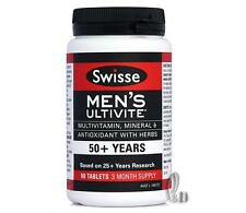 AU SELLER Swisse Men's Ultivite 50+Multi Vitamin 90 Tablets 3 Month Supply