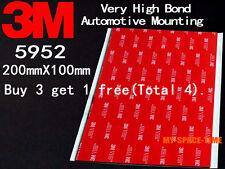 3M VHB #5952 Double-sided Acrylic Foam Tape Automotive 100mm X 200mm
