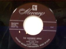 "HUGO & LUIGI ""THE GOODBYE SONG / A SATISFIED MIND"" 45"