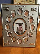 School Years Kindergarten Graduation 24x29CM Sliver Aluminium Memory Photo Frame