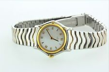 Ebel Classic Wave Women's Mini 18kt Gold & Steel White Dial 1057901