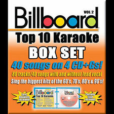 New: BILLBOARD TOP 10 KARAOKE - Vol. 2 (40 Songs on 4CD+Gs) FREE SHIPPING