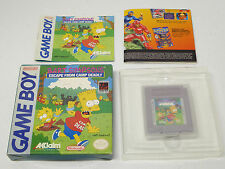 Bart Simpson's Escape From Camp Deadly, Nintendo GameBoy game Complete