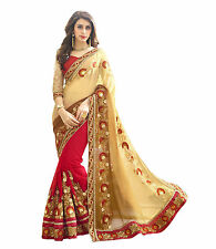 Indian Designer Sari Embroidered Work Bollywood Sari Wedding Party Wear -180