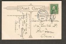 1911 GA Co Happy New Year post card New Milford CT to Elizabeth Lum New Haven