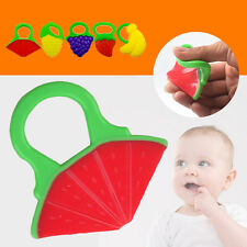 Creative Baby Fruit Teether Teething Toys Chewable Silicone Teethers With Rings