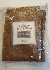 CROSCILL Home ISABELLE European Pillow Sham golds NEW
