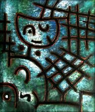 Stretched Quality Hand Painted Oil Painting Repro Paul Klee Captive 36x40in