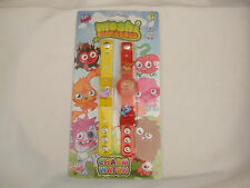 Moshi Monsters Charm Watch Set Red & Yellow Straps Interchangeable Charms
