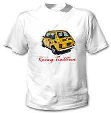 MALUCH POLISH FIAT 126 P RACING TRADITION 1 - WHITE COTTON TSHIRT
