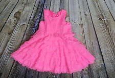 Cherokee size 4t bright pink scallop party dress girls